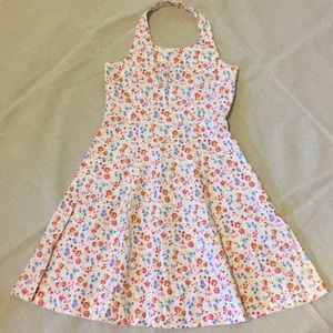 Little Girls Floral Halter Dress Spring Easter